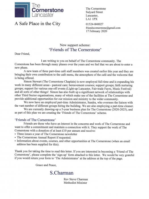 Friends of The Cornerstone